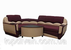 """Угловой диван """"Марселло"""". (угол взаимозаменяемый) Люкс (ткань 6)"""
