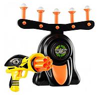 Повітряний Тир Пістолет із дротиками і літаючими мішенями Floating Target Game, фото 1