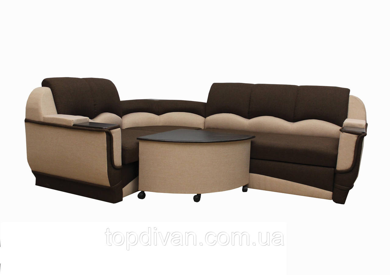 """Угловой диван """"Марселло"""". (угол взаимозаменяемый) Люкс (ткань 36)"""