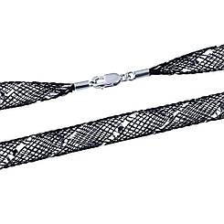 Серебряный шнурок pSilverAlex с органзою (1893074) 450 размер