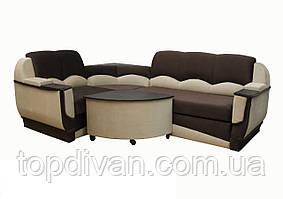 """Угловой диван """"Марселло"""". (угол взаимозаменяемый) Люкс (ткань 3)"""