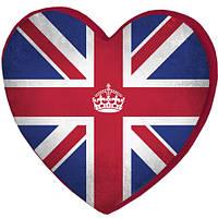 Подушка сердце 3D Британский флаг