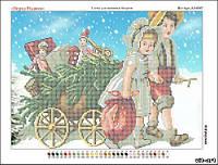 Схема для вышивки бисером Перед Рождеством