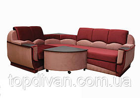 """Угловой диван """"Марселло"""". (угол взаимозаменяемый) Велюр (ткань 4)"""