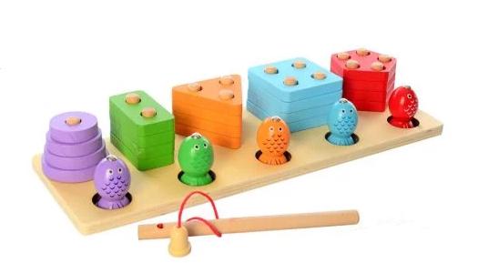 """Дерев'яна іграшка Геометрика 2 в 1 """" MD 2177, в коробці"""