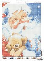 Схема для вышивки бисером Санта Клаус