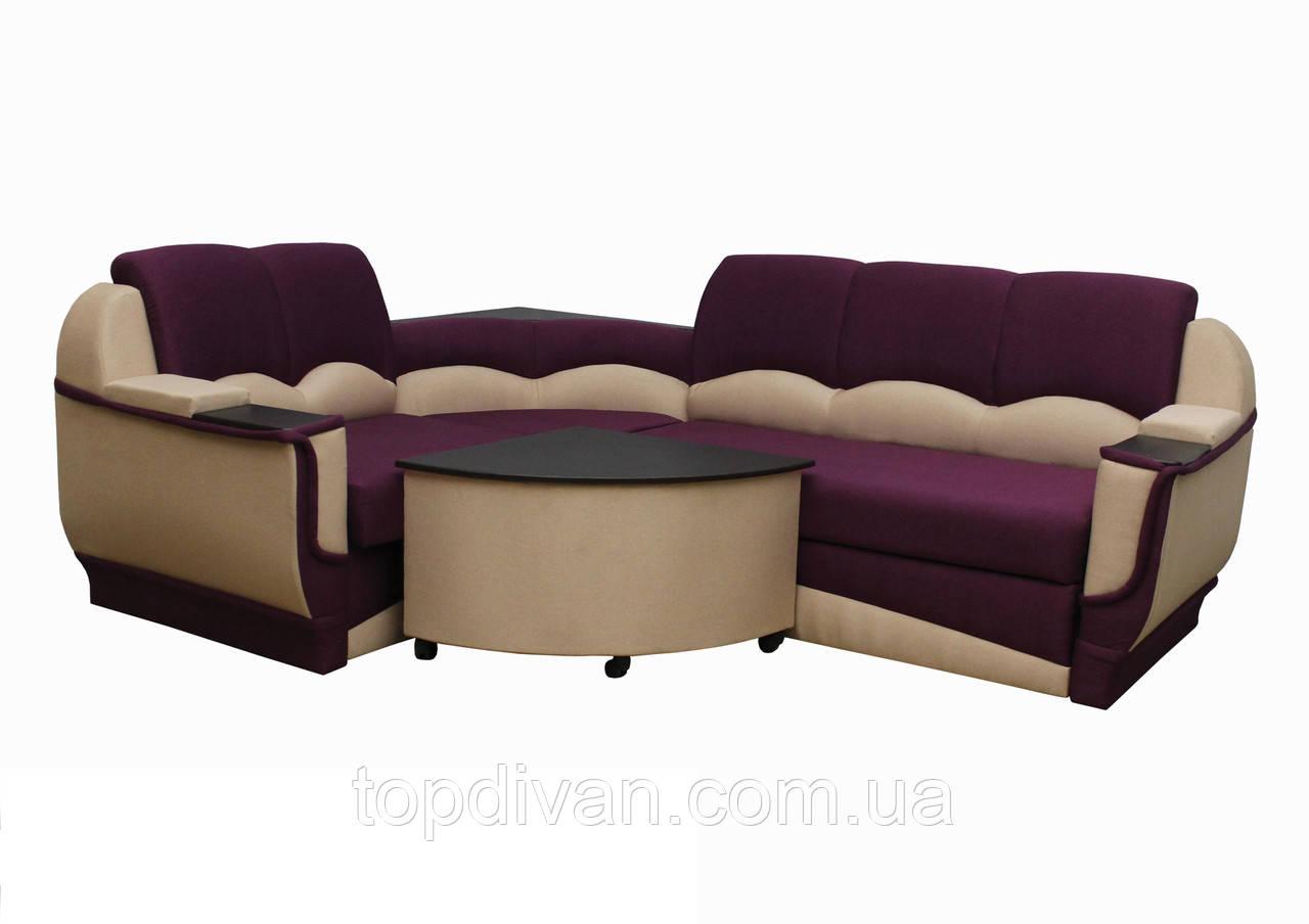 """Угловой диван """"Марселло"""". (угол взаимозаменяемый) Люкс (ткань 8)"""