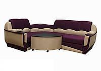 """Угловой диван """"Марселло"""". (угол взаимозаменяемый) Люкс (ткань 8), фото 1"""