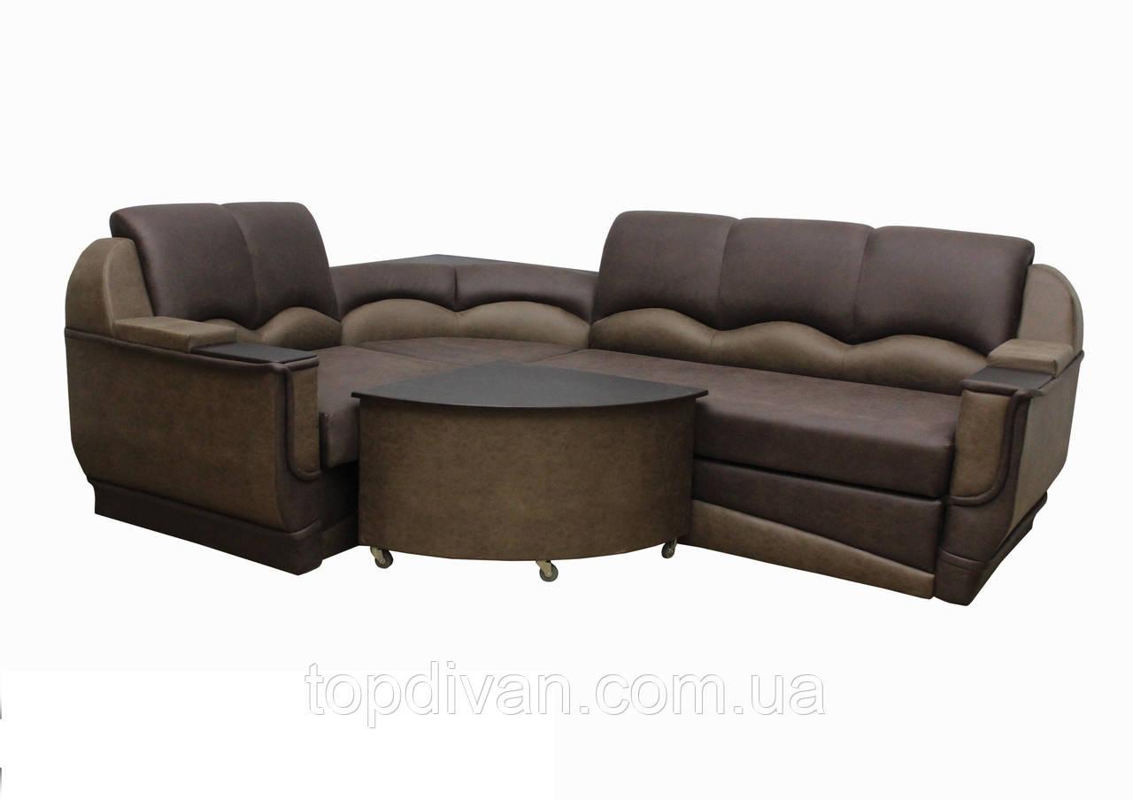 """Угловой диван """"Марселло"""". (угол взаимозаменяемый) Велюр прессованный (ткань 9)"""