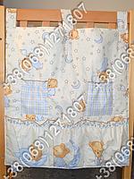 Карман органайзер 65х60 см для аксессуаров на детскую кроватку (бежевые расцветки)