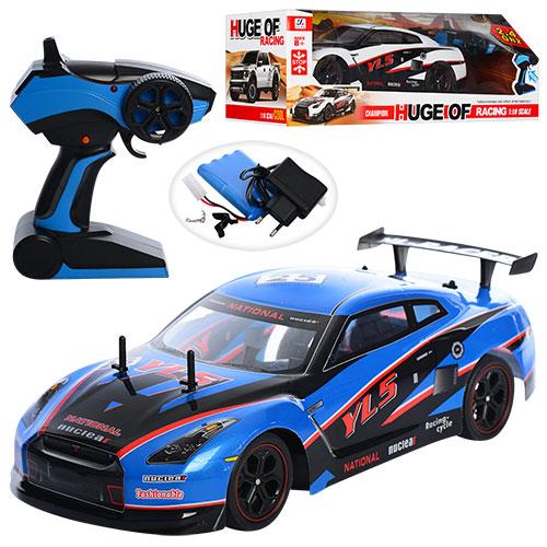 Машина на радіокеруванні, гоночна машина на пульті управління YILE TOYS YL-01, синя, в коробці