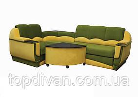 """Угловой диван """"Марселло"""". (угол взаимозаменяемый) Микровелюр (ткань 14)"""