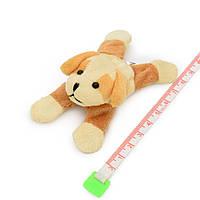 Магнит декоративный мягкая игрушка 9х5х3 см собачка бежевая (42203.004)