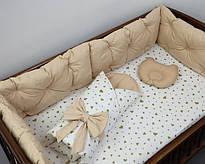 """Комплекти """"Набір для ліжечка з 3мя бортами"""" (1050 грн)"""