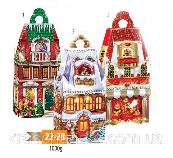 Новогодняя подарочная коробка, Башня рождественская, Картонная упаковка для конфет опт, Днепр
