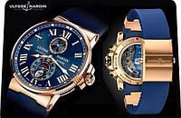 Мужские часы наручные Ulysse Nardin, кварцевые часы, стильные часы для мужчин, наручные часы
