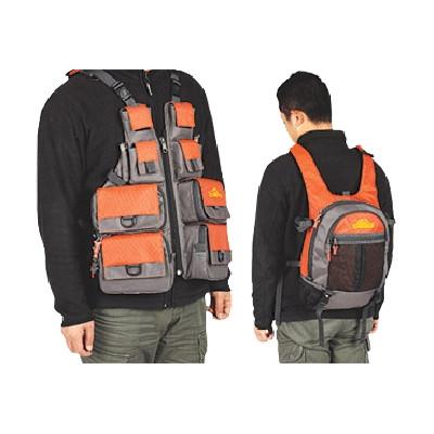 Рюкзак+жилетка 2в1 для спиннингиста