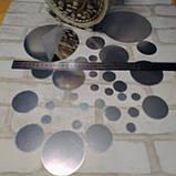 Набор зеркальных кругов для декора 30 штук, серебряное зеркало, фото 5