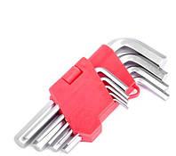 Набор Г-образных шестигранных ключей 9 шт. Cr-V INTERTOOL HT-0601