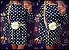 Женское красивое платье в горошек с пояском