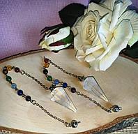 Маятник з гірським кришталем і чакральными камінням від студії www.LadyStyle.Biz, фото 1