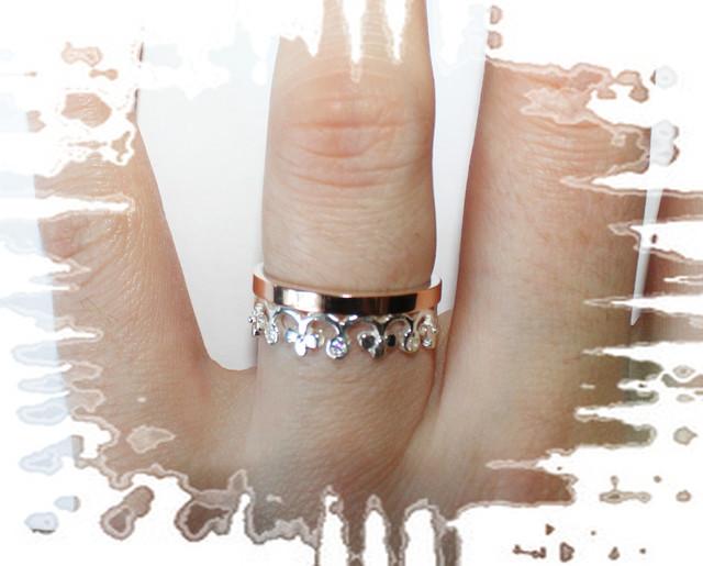 кольцо корона, подарок девушке на день влюбленных