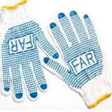 Перчатки FAR х/б білі з синьою точкою