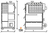 RODA RK3G-400, 466 квт стальной твердотопливный котел жаротрубный мощностью 466 квт, фото 6