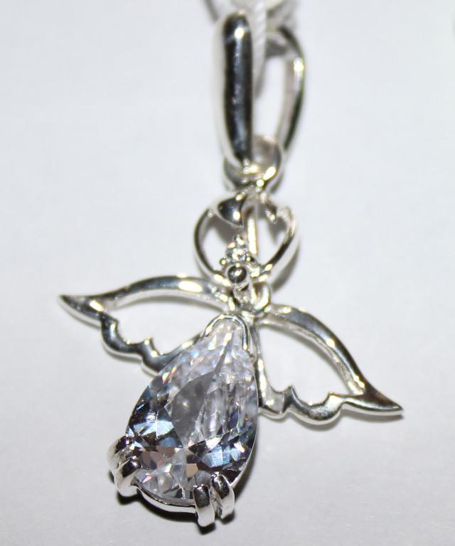 подарок девушке на день влюбленных, серебряный кулон Ангел
