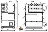 RODA RK3G-300, 349 квт стальной твердотопливный котел жаротрубный мощностью 349 квт, фото 5