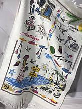 Набір 12 кухонних рушників By IDO Antalya Summer 40х60 махра/велюр SA-6351