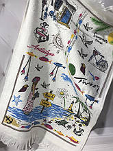 Набор 12 кухонных полотенец By IDO Antalya Summer 40х60 махра/велюр SA-6351