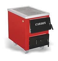 """Carbon КСТО-17,5 """"Тайга"""" с чугунной плитой на 2 конфорки. Котел твердотопливный для дома."""