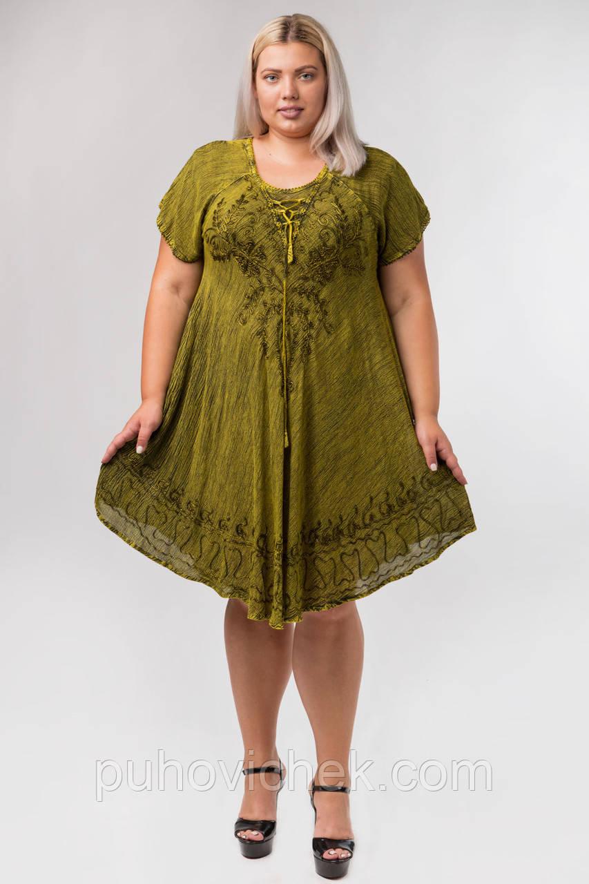 Сукня жіноча вільного крою розміри 48-58