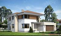 Современный  двухэтажный дом Софиевская Боршаговка