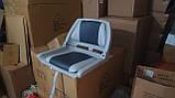 Кресло для лодки ПВХ пластиковое с мягкими вставками цвет серый, фото 2