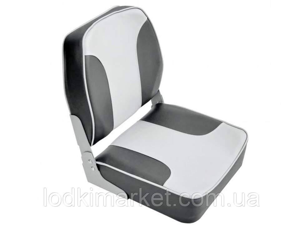Крісло для човнів і катерів посилене з м'якими вставками колір сірий