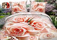 """Полуторный комплект постельного белья """"Розовый цвет""""."""