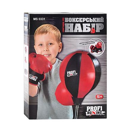 Боксерський набір, підлогова груша MS 0331, в коробці, рукавички на 6 унцій