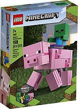 Конструктор Lego Minecraft 21157 Большие фигурки Minecraft Свинья и Зомби-ребёнок