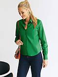 Яркая зеленая рубашка с длинным рукавом, фото 3