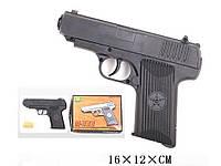 Детский игрушечный пневматический пистолет с пульками 333