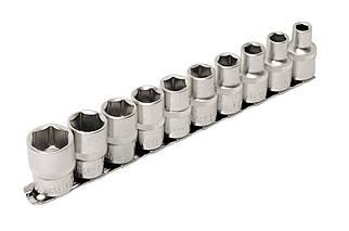 """Набір головок шестигранних 1/2"""" Mastertool - 10 шт. (8-19 мм) (78-1210), (Оригінал)"""