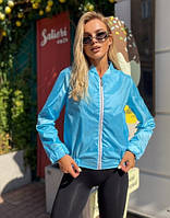Куртка вітровка жіноча весна-осінь 42-44 44-46, бежевий, білий, чорний, блакитний і рожевий