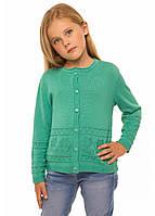 Трикотажна кофта для дівчинки зріст 104-116 см