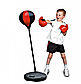 Боксерський набір, підлогова груша MS 0332, в коробці, рукавички на 6 унцій, фото 2
