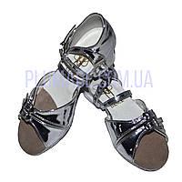 Бально-спортивне взуття для дівчаток, срібло-дзеркало