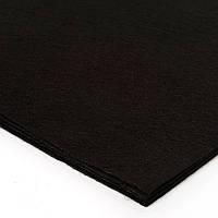 Фетр чёрный, 100*80 см, 1 мм