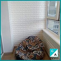Самоклеюча 3д 3D панелі для стін під білий цегла 700х770х3мм 3д самоклейка для кухні коридору