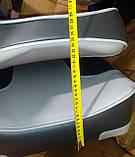 Крісло для човнів і катерів посилене з м'якими вставками колір сірий, фото 9